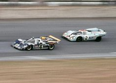 24 Horas de Daytona 1971 Ferrari 512M Penske Sunoco Mark Donahoue y Porsche 917 Gulf Pedro Rodriguez