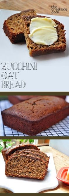 Rich, and sweet - a touch of summer you can enjoy even in the fall! [you can use frozen zucchini for this too!] Zucchini Oat Bread - The Creekside Cook