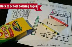 Here are some great Back to School Coloring Pages to help get the kids excited to go back!