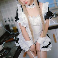 Top Japan Fashion & Korea Fashion & Asian Fashion Clothes And Accessories. Cute Girl Outfits, Sexy Outfits, Fashion Outfits, Fashion Clothes, Maid Outfit, Maid Dress, Maid Cosplay, Cosplay Girls, Harajuku Fashion