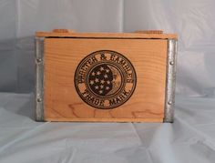 "Proctor & Gamble Ivory Soap Wood Crate Box 9"" X 6"" X 6"" w/ Lid - Moon & Stars  #IvorySoapProctorGamble"
