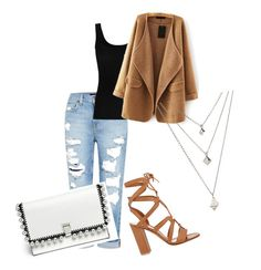 """""""Untitled #84"""" by dodo9541 on Polyvore featuring Genetic Denim, Gianvito Rossi, Twenty and Proenza Schouler"""
