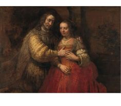 Rembrandt van Rijn Isaac and Rebecca, Known as 'The Jewish Bride', oil on canvas, x cm. The Jewish Bride, Rembrandt, 17th Century, Art Reproductions, Oil On Canvas, Mona Lisa, Van, Museum, History