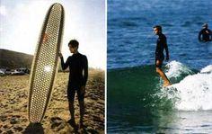 Tabla de surf de cartón