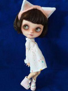 OOAK Custom Blythe Doll OOAK Eyes Freckles Carved Boggled Outfit So Sassy   eBay