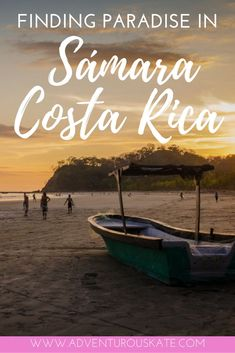 On my search for the perfect beach town in Central America, I discovered Sámara, a small beach destination in Costa Rica. Equipped with basic amenities and a beautiful open beach, this town is perfect for a vacation on the ocean that offers bucket list worthy sunsets. Best restaurants, hostels and hotels + fun things to do. | Adventurous Kate: Solo Female Travel Blog #CostaRica