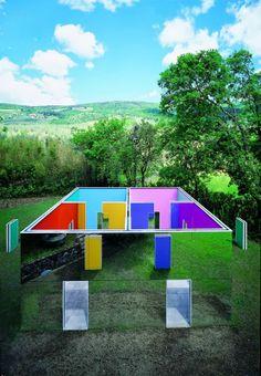 """La cabane éclatée aux 4 salles"" by Daniel Buren, 2005_Collezione Gori - Fattoria di Celle, Santomato (Pistoia), IT"