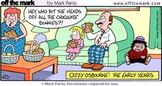 easter humor | easter humor ozzy osbourne early days heads off choc bunnies