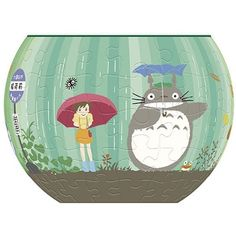 JIGSAW PUZZLE - 84 pieces - THREE DIMENSIONAL ART BOWL - bus stop - Totoro - Ensky - Studio Ghibli (new product 2016)
