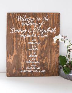 Wedding Sign - Laura Hooper Calligraphy