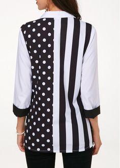 Three Quarter Sleeve Shop Womens Fashion Tops, Blouses, T Shirts, Knitwear Online Older Women Fashion, Black Women Fashion, Womens Fashion, Edgy Dress, Black Blouse, Fashion Outfits, Fashion Boots, Fashion Top, Work Blouse