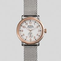 Shinola 'The Runwell' Metal Bracelet Watch White Dial, 41mm