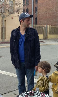 No big deal, just 2 cutie patooties on the street. Misha Collins and West, everyone!