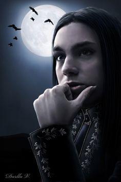 Vampire in Moonlight by VampireDarlla.deviantart.com on @deviantART