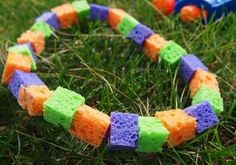Cool-off Sponge Necklace - We did this at Wednesday Night Childrens church and the kids loved it!