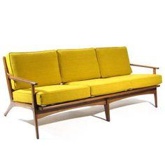 Poul Jensen Mid-Century Sofa Chair Danish Eames Ohlsson Hvidt Vodder Jalk Era