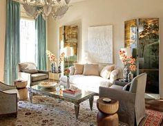 I really like this color palette for a living room...Shauhn Caughorn please weigh in on the gray color...:)