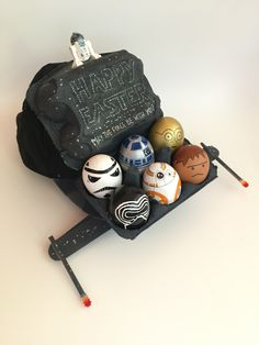 Star Wars Easter Hat Bonnet Cap with painted eggs