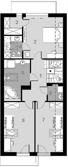 Projekt domu D102C 126,45 m2 - koszt budowy - EXTRADOM Floor Plans, Homes, Floor Plan Drawing, House Floor Plans