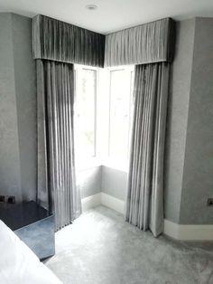 Window Pelmets, Bay Window Blinds, Corner Window Curtains, Blinds For Windows, Curtain Pelmet, Curtains And Draperies, Panel Curtains, Drapery, Pelmet Designs