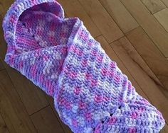Crochet Cuddly Snuggly Hooded Baby Blanket - Free Pattern