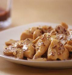 Poulet à la moutarde et aux champignons, sauce légère au yaourt - les meilleures recettes de cuisine d'Ôdélices