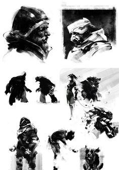 Jama Jurabaev: is a senior concept and matte artist Character Sketches, Character Art, Character Design, Digital Painting Tutorials, Art Tutorials, Concept Art Books, Concept Art Tutorial, Animation Sketches, Cg Art