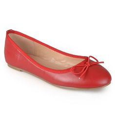 Journee Collection Vika Women's Ballet Flats, Girl's, Size: medium (6), Red