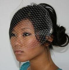 Birdcage Veil, Veils, Wedding Veils, Bridal Veils, - Agnes