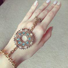 Gypsy & Boho Chic Style Chain Slave Bracelet Hand от TClassy, $16.00