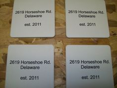 Personalized sandstone coasters, $29.99 free shipping