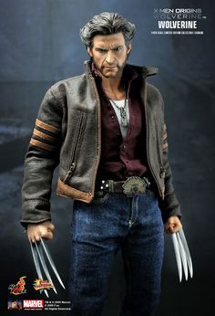 Hot Toys : X-Men Origins: Wolverine 1/6th scale Limited Edition Collectible Figurine. Wolverine from the blockbuster film 'X-Men Origins. This incredibly detailed and film-accurate 1/6 scale Wolverine Limited Edition Collectible Figure is an outstanding addition to any Marvel fan's collection.
