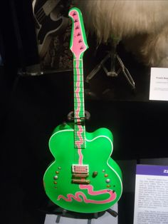 ZZ Top's Billy Gibbons' electric #guitar at the Rock and Roll Hall of Fame Museum