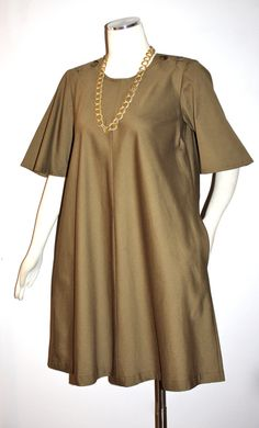 Vintage YVES SAINT LAURENT Rive Gauche Safari Dress by StatedStyle