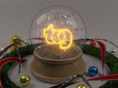 Criação de imagem temática de Natal para envio de email de Natal para cliente da Tog Adesivos