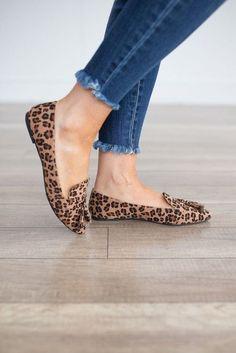 Leopard Tassel Loafers - Brown Multi