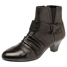 Velda Ruched Leather Ankle Boots