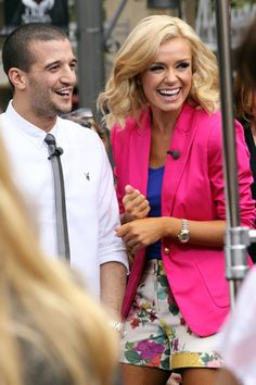 Mark Ballas Photos: Celebs on 'Extra' in LA