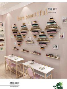 Nail Salon Design, Home Nail Salon, Nail Salon Decor, Salon Interior Design, Salon Nails, Beauty Room Salon, Beauty Room Decor, Nail Saloon, Esthetician Room