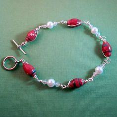 Paper Bead Jewelry   Red by PaperChaseJewelry, $21.99