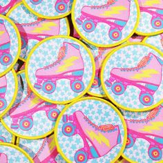 get your retro groove back with a one of these cute patches! Perfect for the aspiring roller derby diva or anyone who misses the days they got to