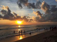 Sunset, Bali, Kuta beach - Indonesia