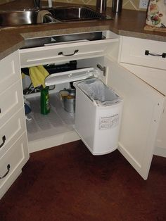 Unique Undersink Trash Can Ideas | Tags: Undersink Trash Can Cabinet Doors,  Undersink Trash