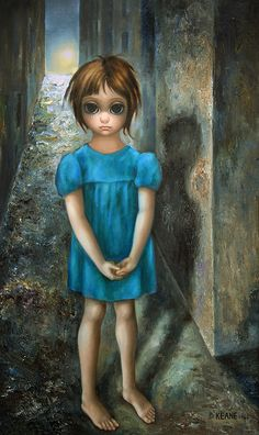 In Tim Burton made a movie about Margaret's life. Amy Adams portrayed the artist and Christoph Waltz incarnated Walter Keane. Big Eyes Margaret Keane, Keane Big Eyes, Margareth Keane, Big Eyes Movie, Keane Artist, Walter Keane, Big Eyes Paintings, Estilo Tim Burton, Film Big
