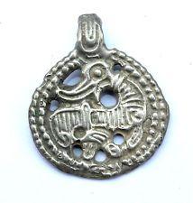 Viking,Scandinavian Silver Dragon Round pendant 1000 AD PP