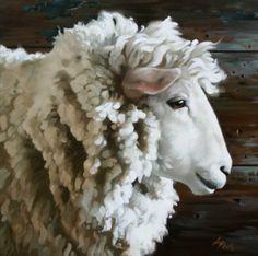 Sheep Paintings | Artwork by Leslie Peck