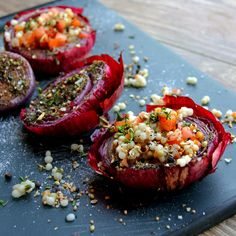 Grilled Red Onion and Southwest Cous Cous Salad - A Bachelor and his Grill