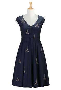 Paris embroidery poplin dress