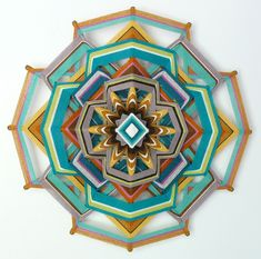 """Far more than just popsicle sticks and yarn, Jay Mohler's Ojos de Dios or """"God's Eye"""" mandalas"""