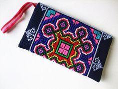 Handmade Crossstitch/Embroidered Applique Bag by dermusensohn2000, $17.99